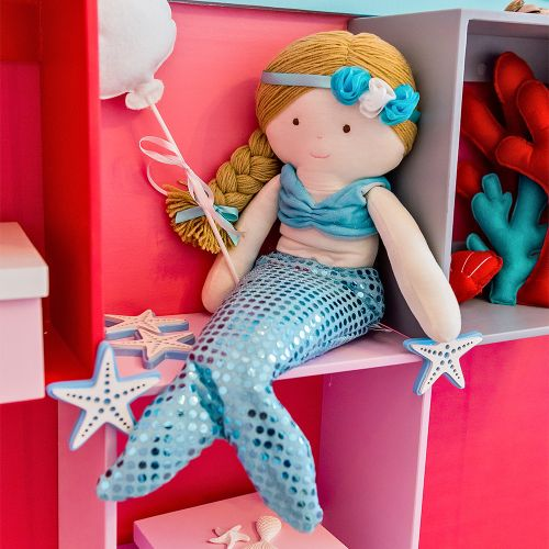 Boneca de Pelúcia Sereia Azul