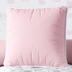 Almofada Quadrada Rosa Cordonê Branco 38cm