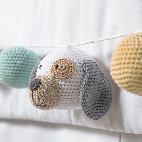 Varal Decorativo Cachorrinho Amigurumi