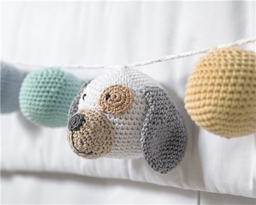 Varal Decorativo Cachorrinho Amigurumi