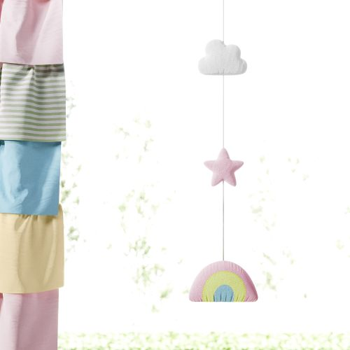 Pêndulo Cortina Arco-íris, Nuvens e Estrelas