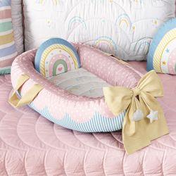 Ninho para Bebê Redutor de Berço Arco-íris