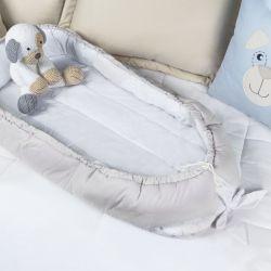 Ninho para Bebê Multifuncional Cinza e Branco