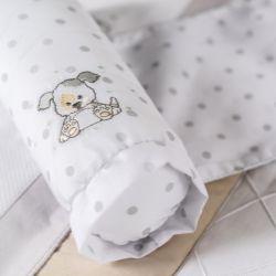 Rolinho Protetor Segura Bebê Cachorrinho Poá