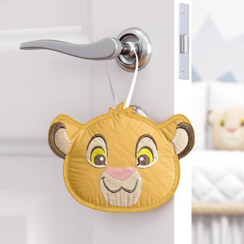 Enfeite para Puxador Amiguinho Simba O Rei Leão