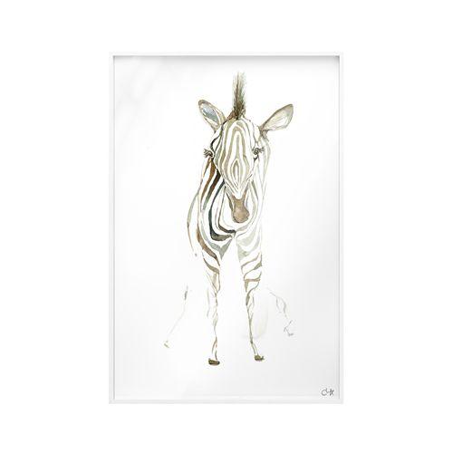 Quadro Vidro Zebra