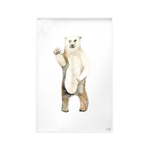 Quadro Vidro Urso