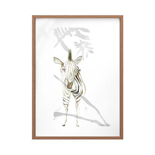 Quadro Vidro Zebra Safári