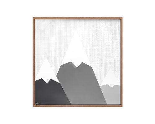 Quadro Vidro Montanhas