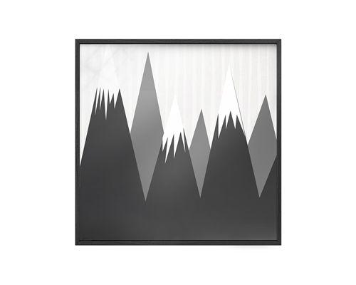 Quadro Vidro Montanhas e Listras