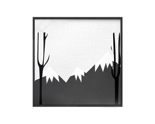 Quadro Vidro Montanhas e Árvores