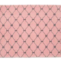 Tapete Retangular Rosa Lacinhos Cinza 1,50m