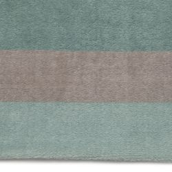 Tapete Retangular Listrado Tricolor Verde 1,50m