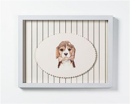 Quadro com Placa Cachorrinho Beagle