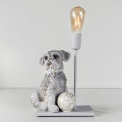 Abajur Cachorrinho Schnauzer com Lâmpada Âmbar
