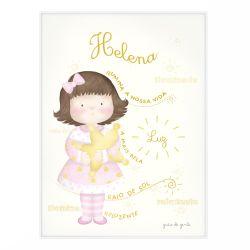 Quadro Significado do Nome Helena Morena