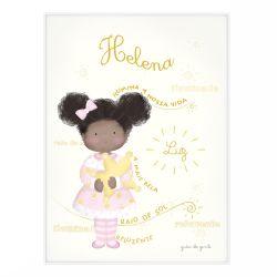 Quadro Significado do Nome Helena Negra