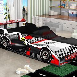 Cama Carro Solteiro Fórmula 1 Preto