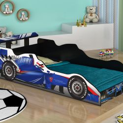 Cama Carro Solteiro Fórmula 1 Azul