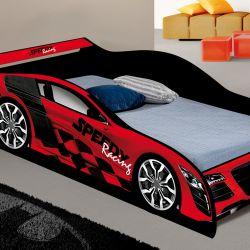 Cama Carro Solteiro Speed Racing Vermelho