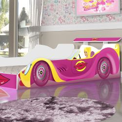 Cama Carro Infantil Blonder Rosa