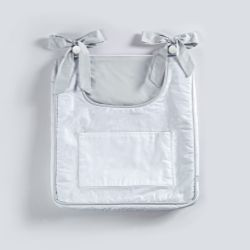 Porta-Fraldas Bolso Duplo Branco/Cinza
