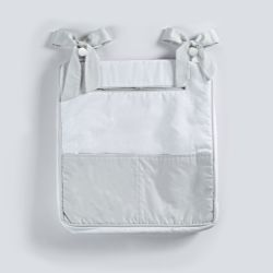 Porta-Fraldas Bolso Triplo Branco/Cinza