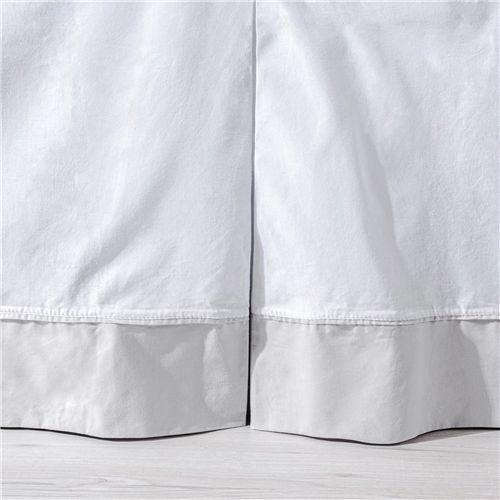 Saia de Berço Prega Invertida Branco/Cinza