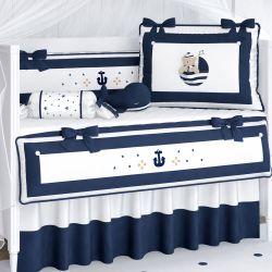 Kit Berço Urso Marinheiro Azul