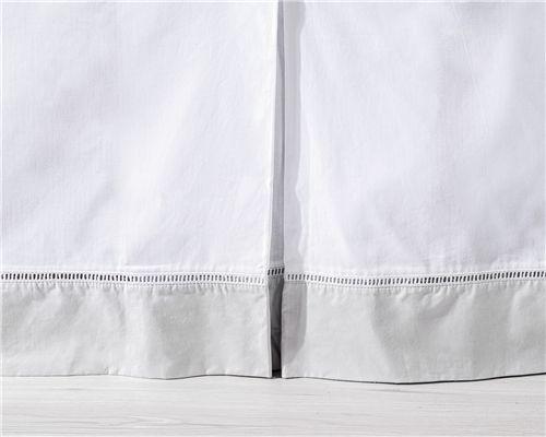 Saia de Berço Ponto Palito Branco/Cinza