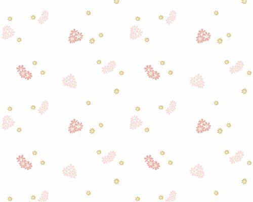 Papel de Parede Floralzinho Rosa Ballet com Açafrão