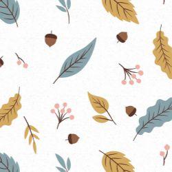 Papel de Parede Outono Moderno com Denim, Rosa e Caramelo