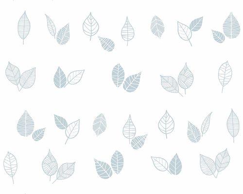 Papel de Parede Folhas Azul