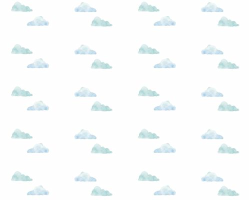 Papel de Parede Nuvens Aquareladas Azul