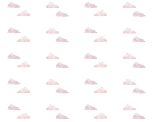 Papel de Parede Nuvens Aquareladas Rosa