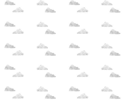 Papel de Parede Nuvens Aquareladas Cinza