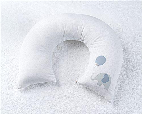 Almofada Amamentação Multifuncional Elefantinho Azul