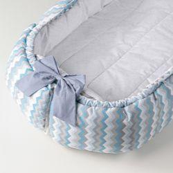 Ninho para Bebê Multifuncional Chevron Azul