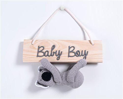 Porta Maternidade Amigurumi Baby Boy