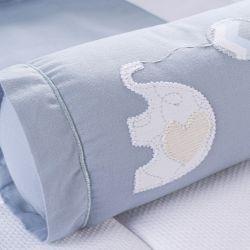 Rolinho Protetor Segura Bebê Elefantinho Azul