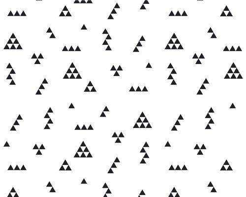 Papel de Parede Mini Triângulos Preto