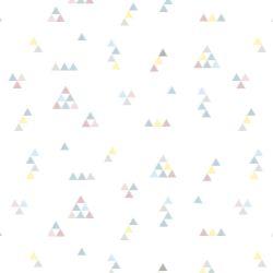 Papel de Parede Mini Triângulos Tons Pastéis