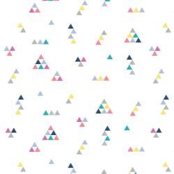 Papel de Parede Mini Triângulos Tons Vibrantes