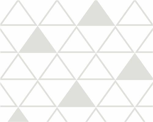 Papel de Parede Maxi Triângulos Cinza