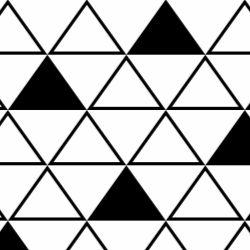 Papel de Parede Maxi Triângulos Preto