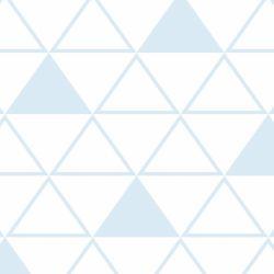 Papel de Parede Maxi Triângulos Azul