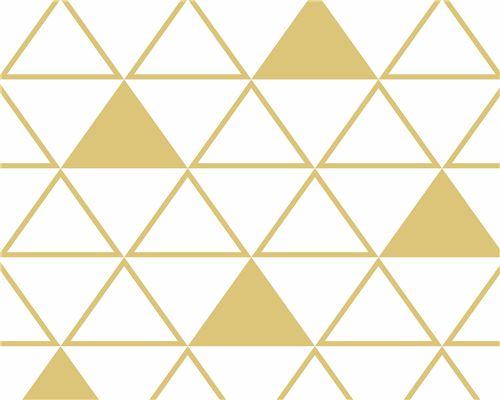Papel de Parede Maxi Triângulos Açafrão