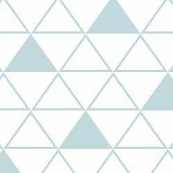 Papel de Parede Maxi Triângulos Verde Água