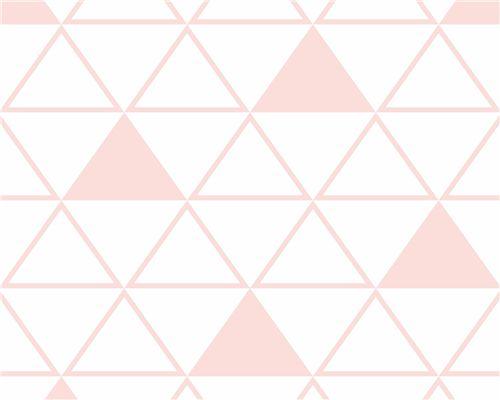 Papel de Parede Maxi Triângulos Rosa Ballet