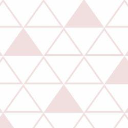 Papel de Parede Maxi Triângulos Rosa Antigo